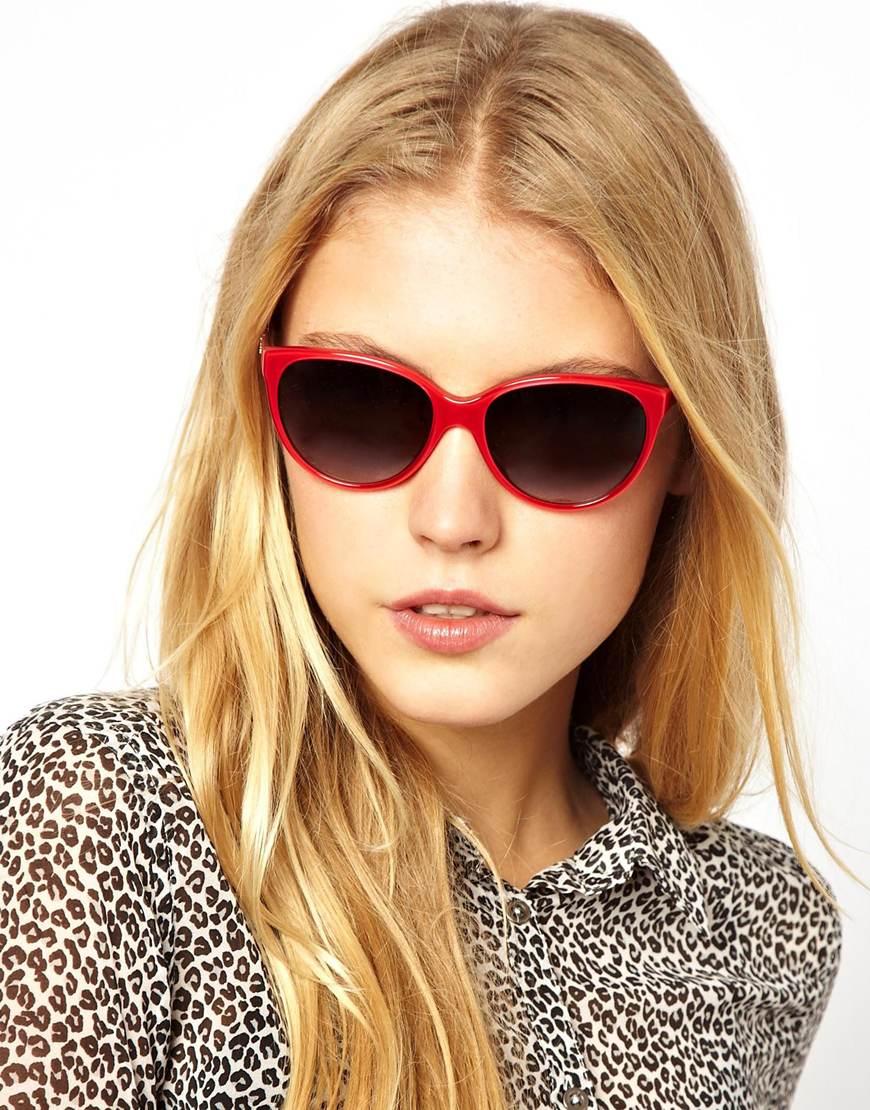 de7a054cd4a Lyst Logo Cateye Sunglasses And In amp  Red Gabbana Dolce qrgxzRqP