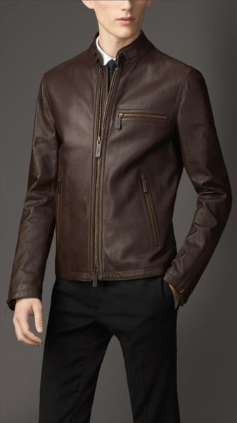 Burberry London Leather Quilted Leather Jacket