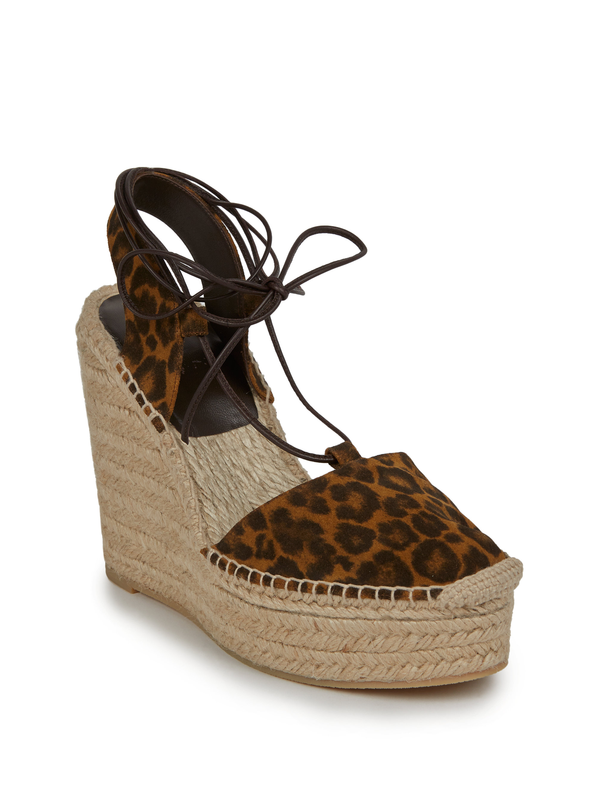 07c5cb06f3b3 Saint Laurent Espadrille Wedge Sandal