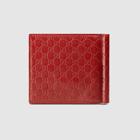 6063ddbb1fb2 Gucci Microguccissima Money Clip Wallet in Red for Men - Lyst