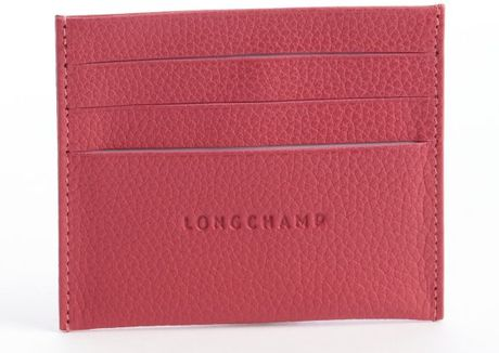Longchamp Pink Leather Card