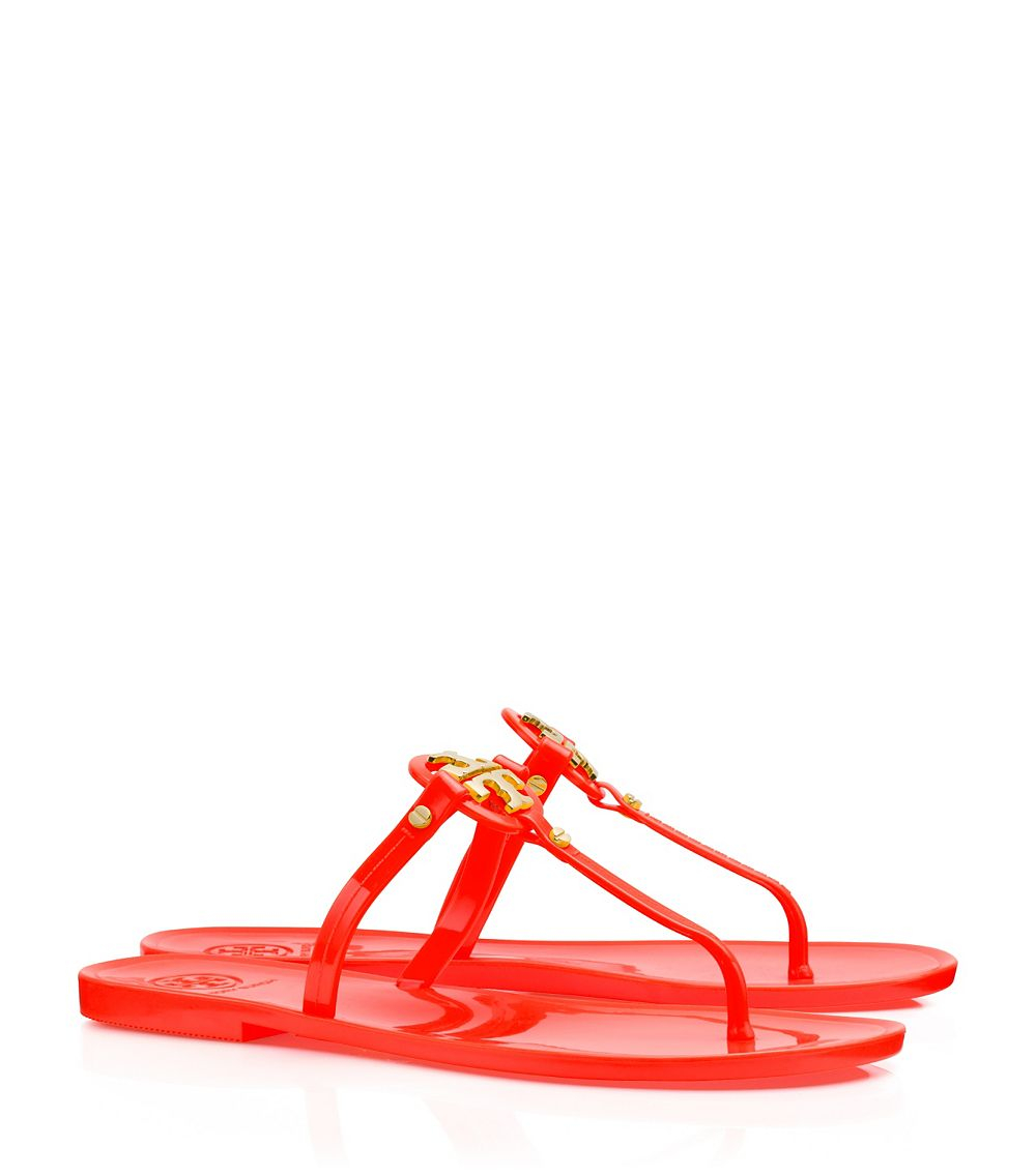 cf8bf40f877 Lyst - Tory Burch Mini Miller Flat Thong in Red