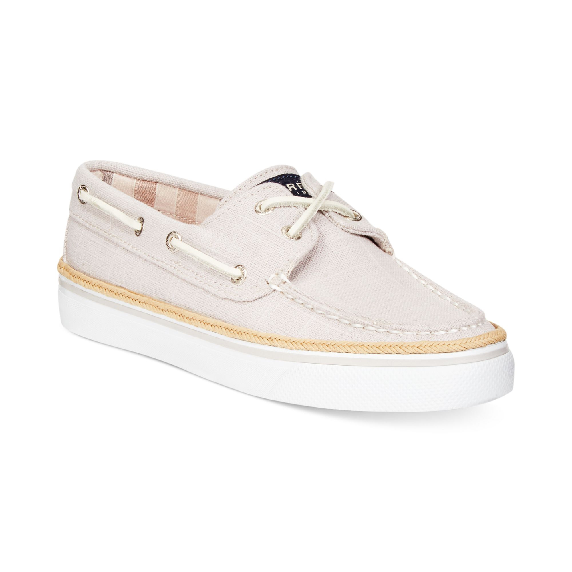 sperry top sider womens bahama boat shoes in gray lyst