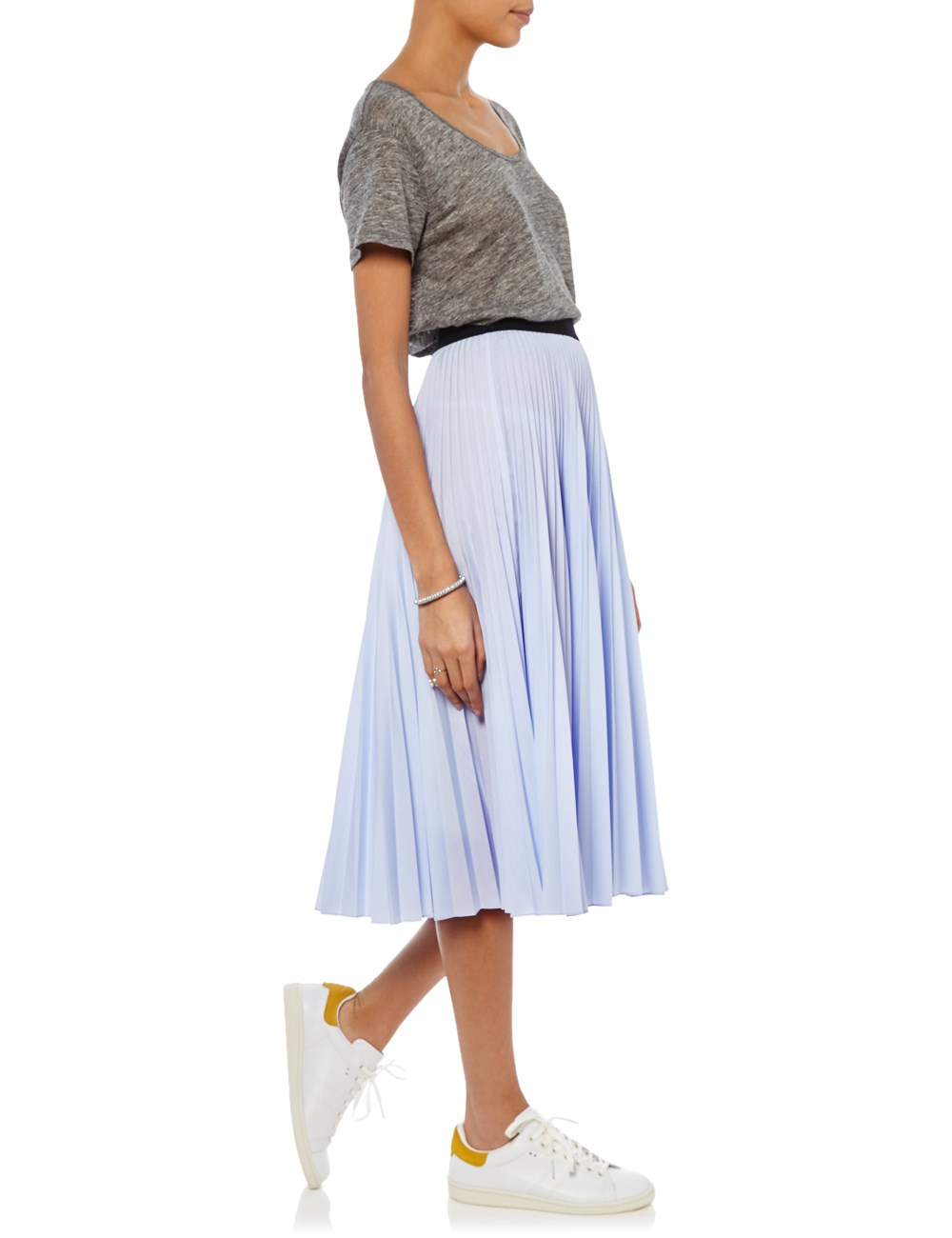 Tome Light Blue Accordion Pleat Skirt in Blue | Lyst