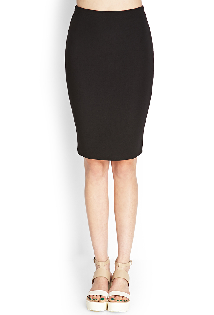 Pencil black skirt forever 21 pictures
