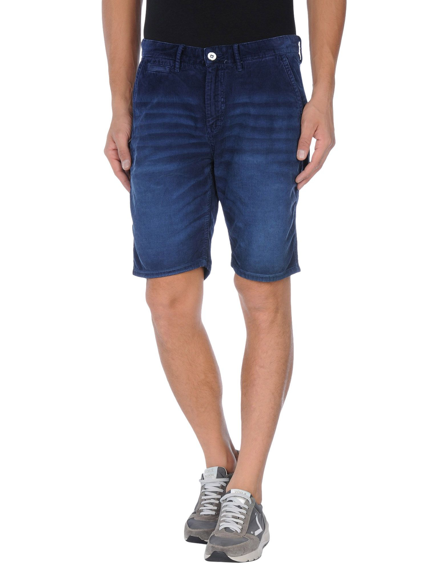 These shorts fit true to size but are slightly more fitted than TABS Bermuda Shorts. If in doubt go bigger, there is a hidden draw string to adjust the waist.