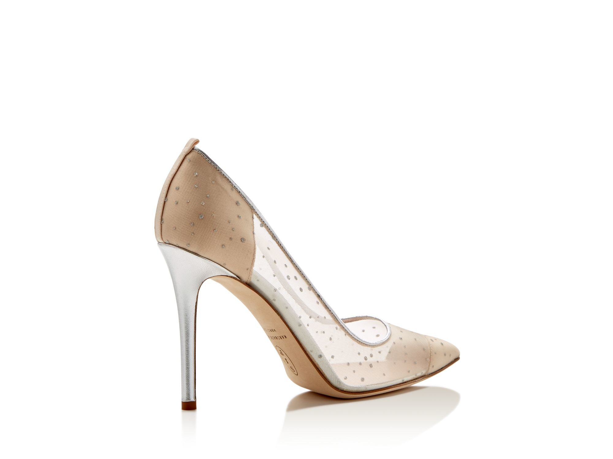 Silver Pointed Toe High Heels