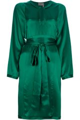 Lanvin Belted Kaftan Dress - Lyst