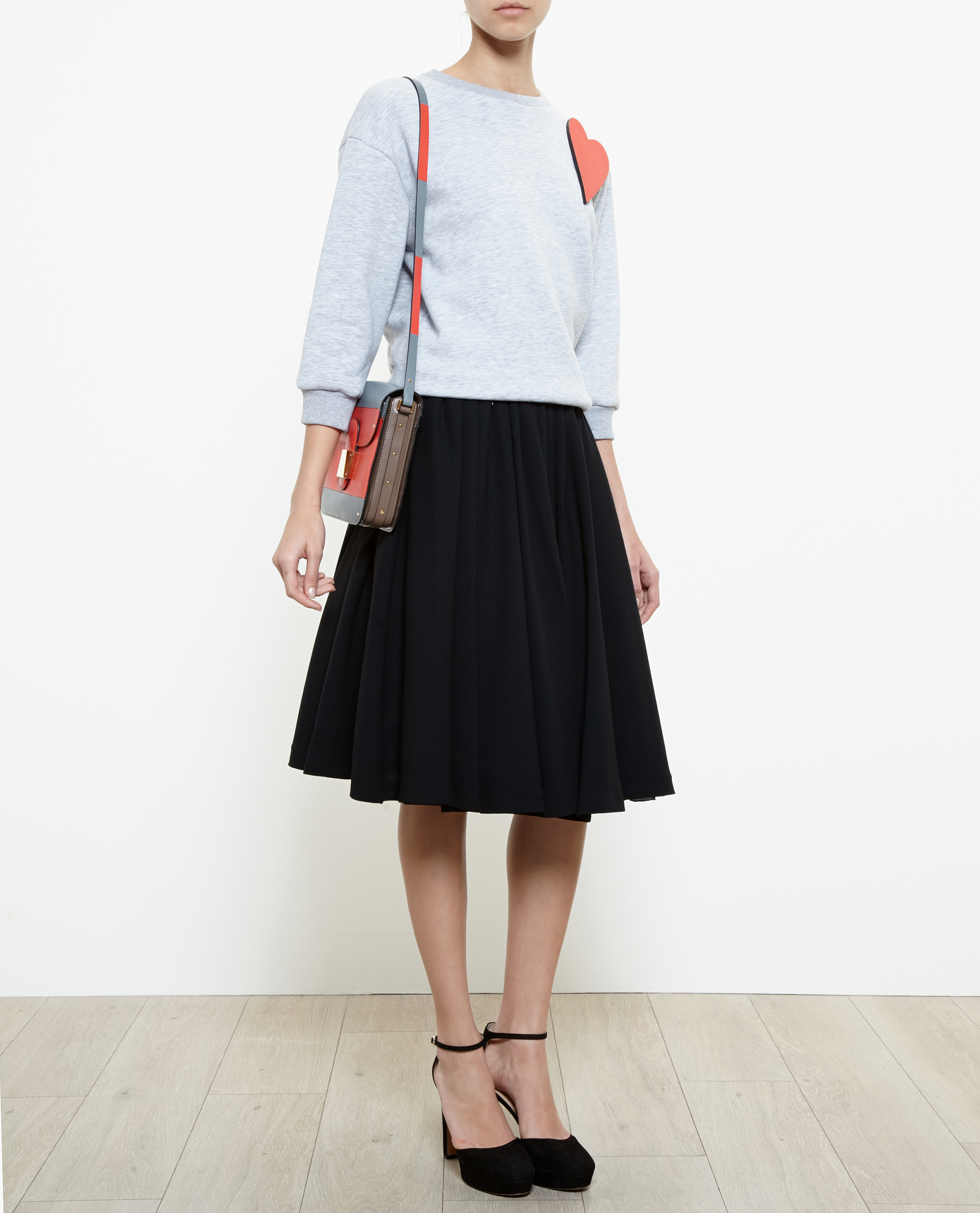 Black Wool Midi Skirt | Jill Dress