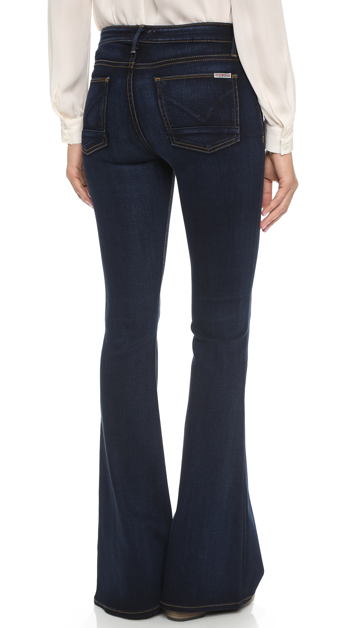 Hudson jeans Mia Flare Jeans - Oracle in Blue | Lyst