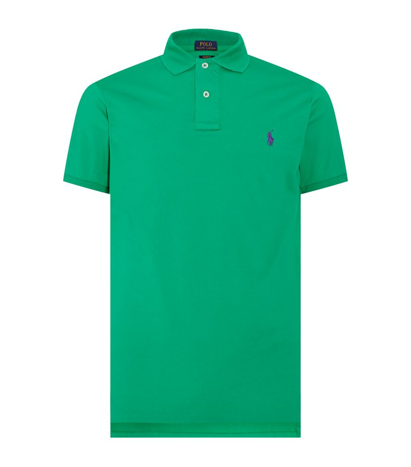 polo ralph lauren custom fit pima cotton polo shirt in