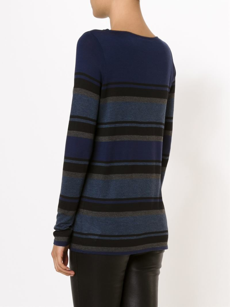 Lyst vince striped long sleeve t shirt in blue Striped long sleeve t shirt