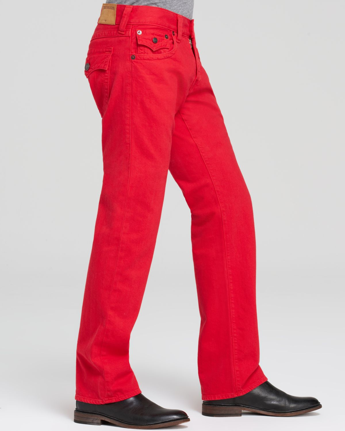 True religion Jeans - Ricky Straight Fit In True Red in Red for ...