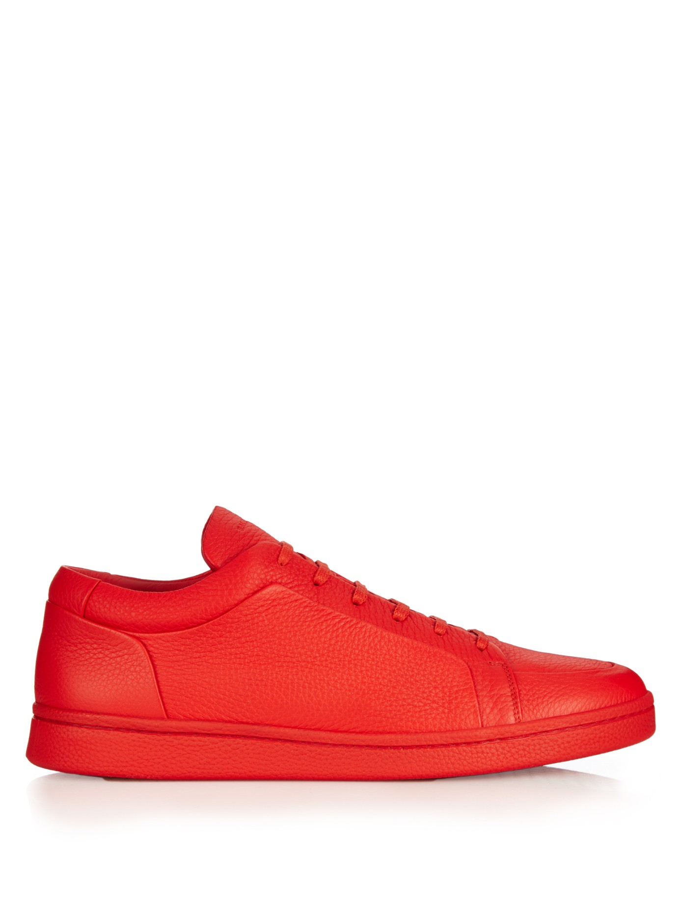 Balenciaga Urban Low Top Leather Trainers In Red For Men