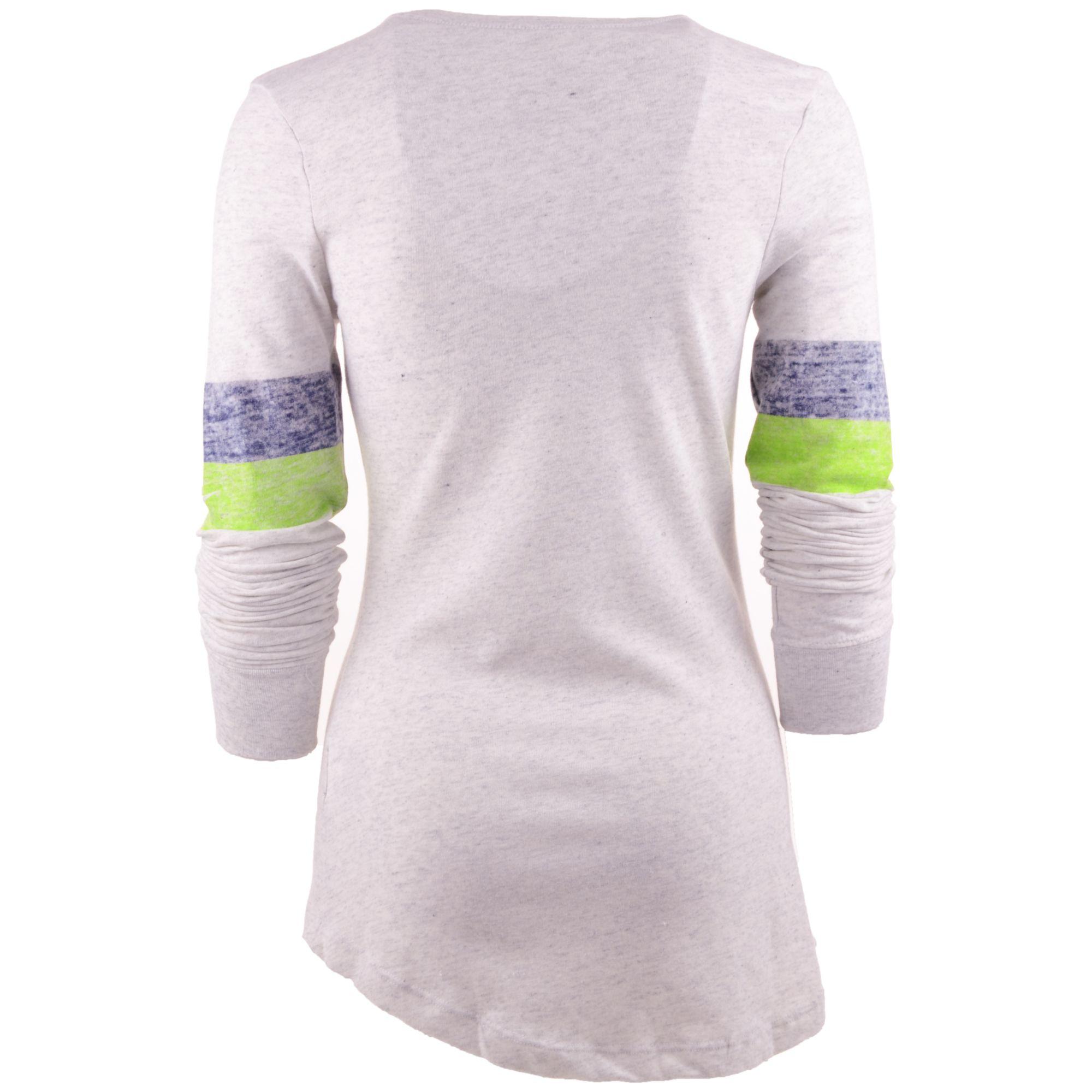 Nike womens long sleeve seattle seahawks t shirt in white for White long sleeve tee shirt womens