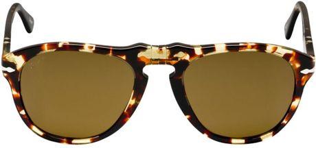 7c10e1f79c Persol Po0649 Round Acetate Frame Polarised Sunglasses in