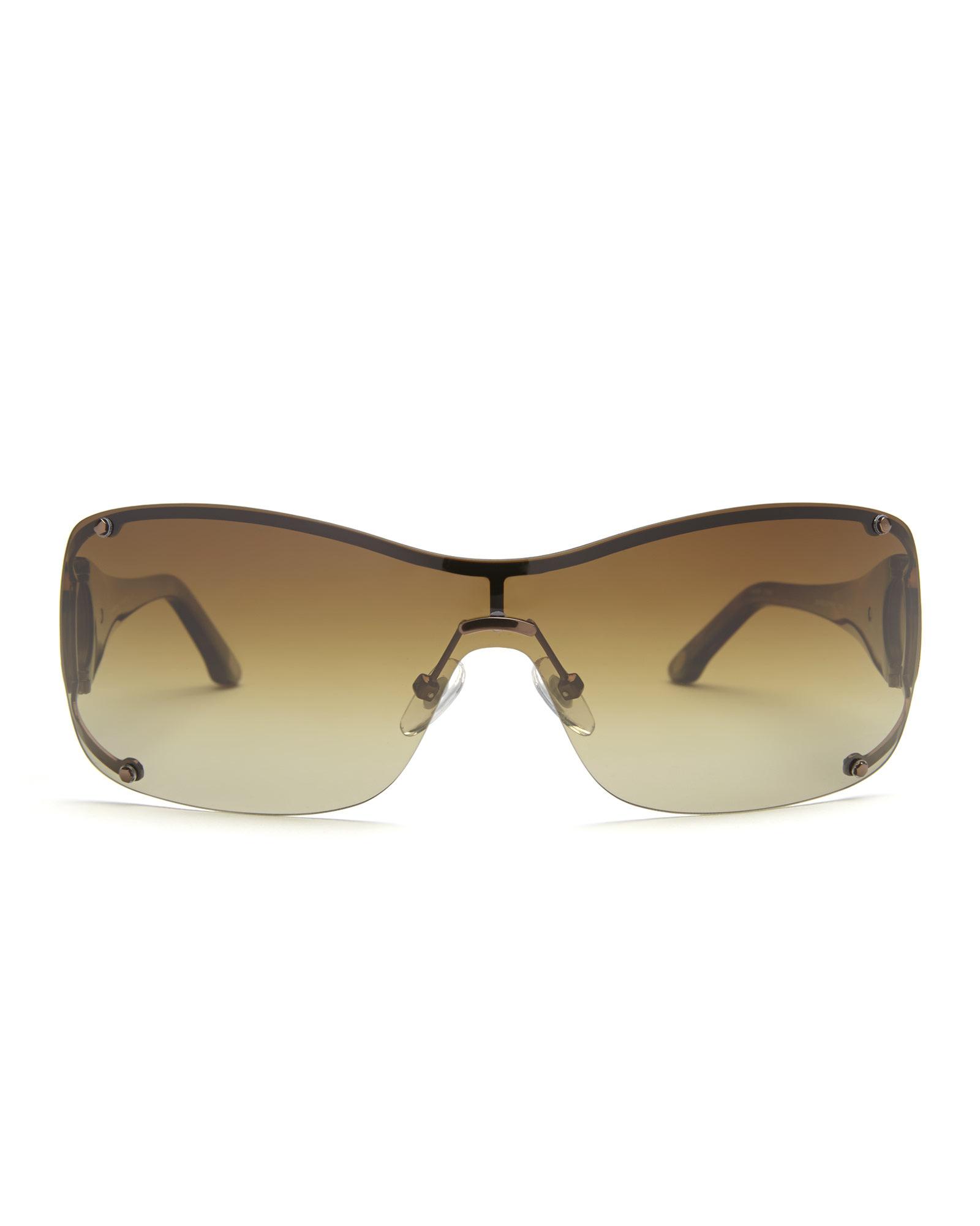 Tommy Bahama Polarized Sunglasses  tommy bahama tb7000 rimless wrap polarized sunglasses in brown lyst