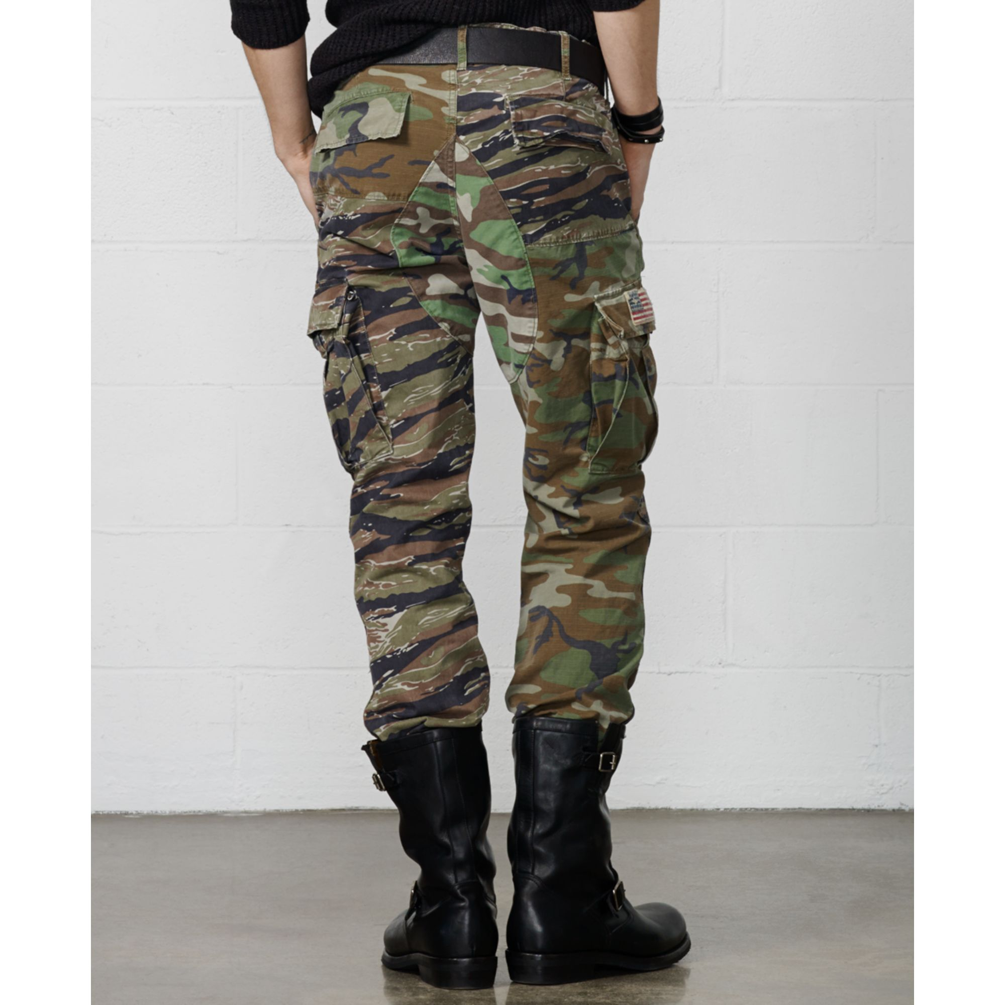 Denim & supply ralph lauren Patched Camo Ripstop Cargo Pants in ...