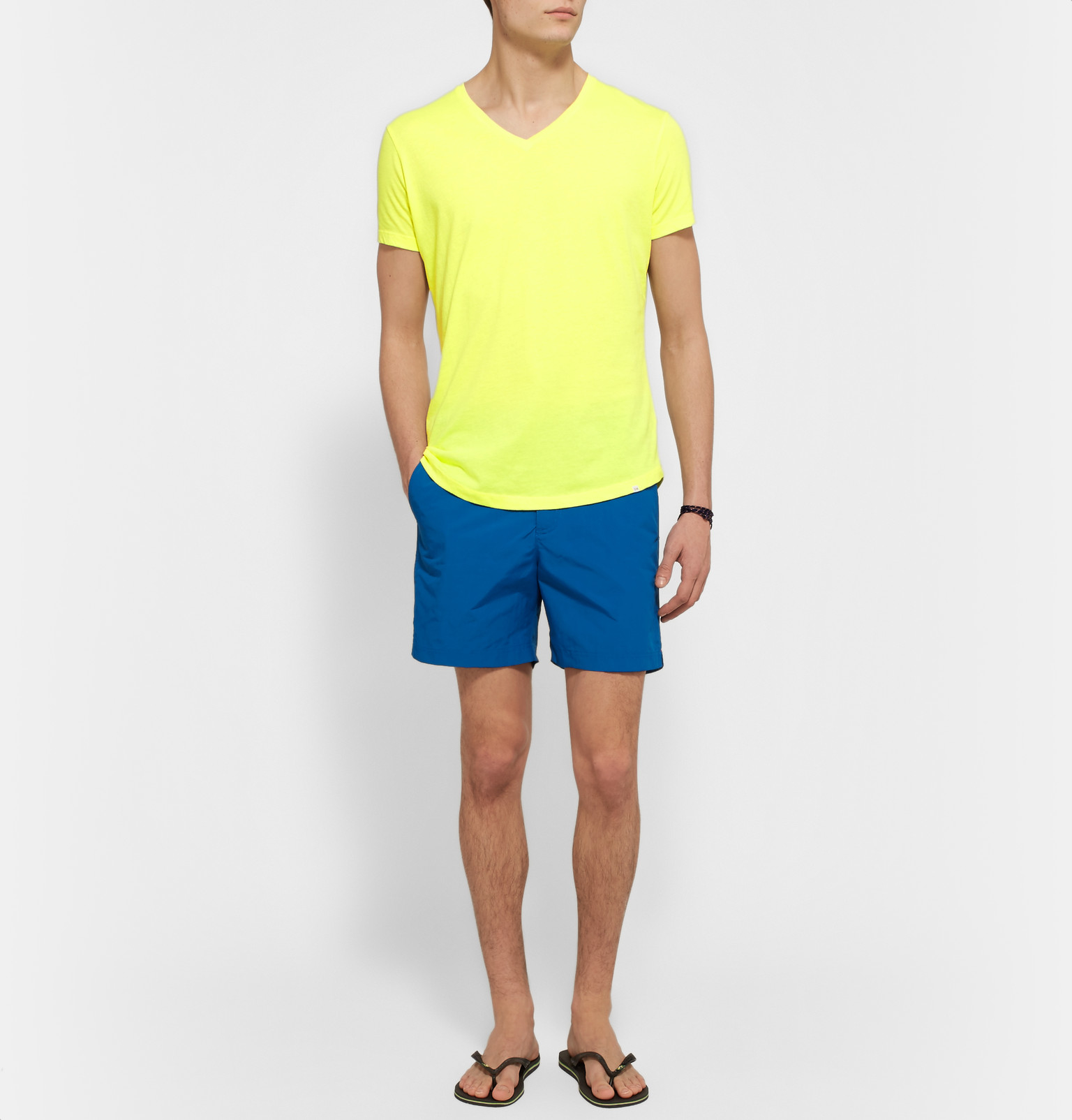0362c2ed673 Orlebar Brown Ob-v Slim-fit Cotton-jersey T-shirt in Yellow for Men ...