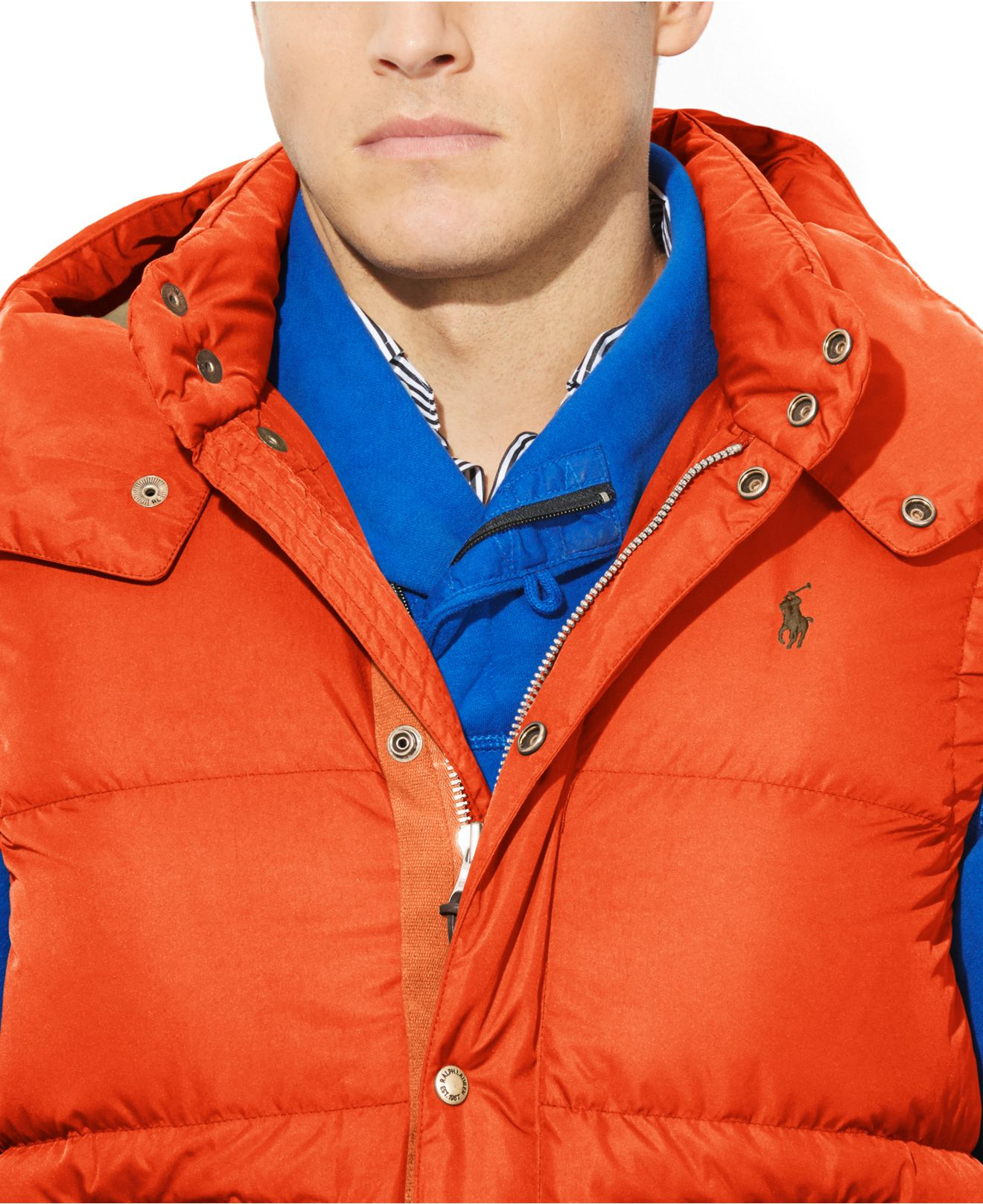 Elmwood Ralph Lauren Lyst Polo And Vest Puffer Big Down In Tall 7gY6bfy