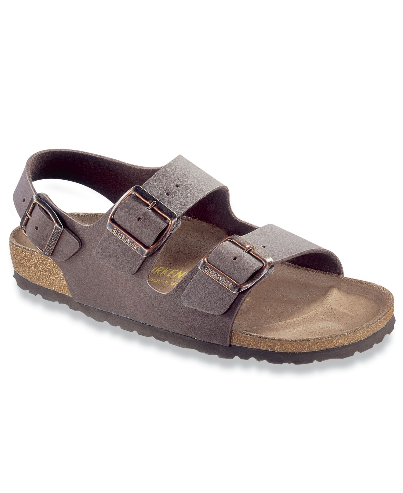 Lyst Birkenstock Milano Birkibuc Back Strap Sandals In