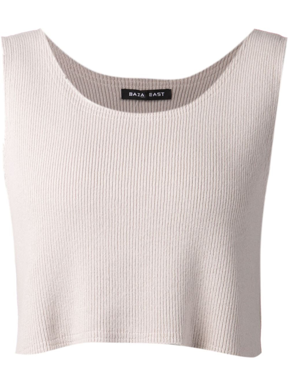 1fb2eeea0ac3f Lyst - Baja East Knit Crop Top in Gray