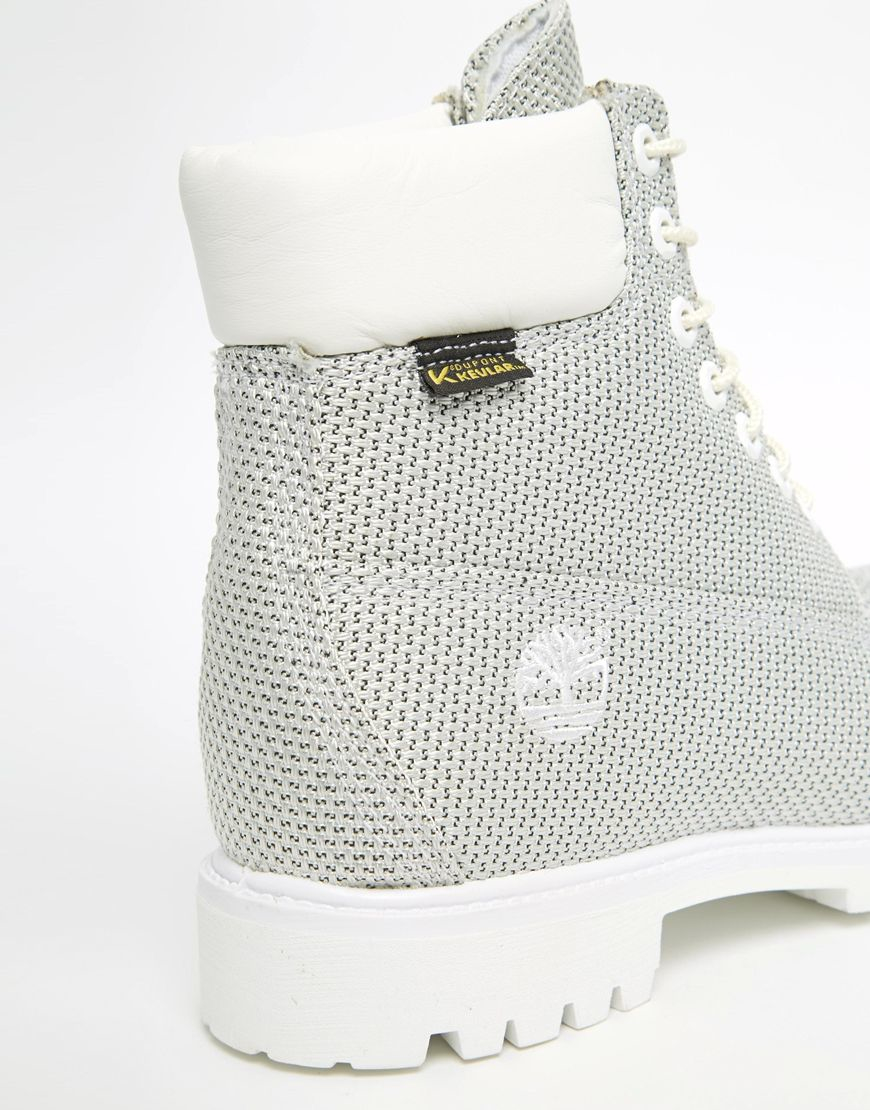 Timberland Icon Kevlar Water Resistant Boots In Gray For