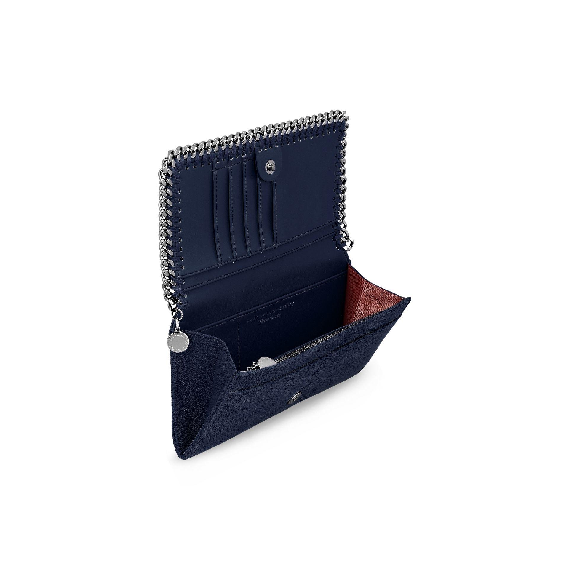 58861fc1ac Lyst - Stella McCartney Navy Falabella Shaggy Deer Flap Wallet in Blue