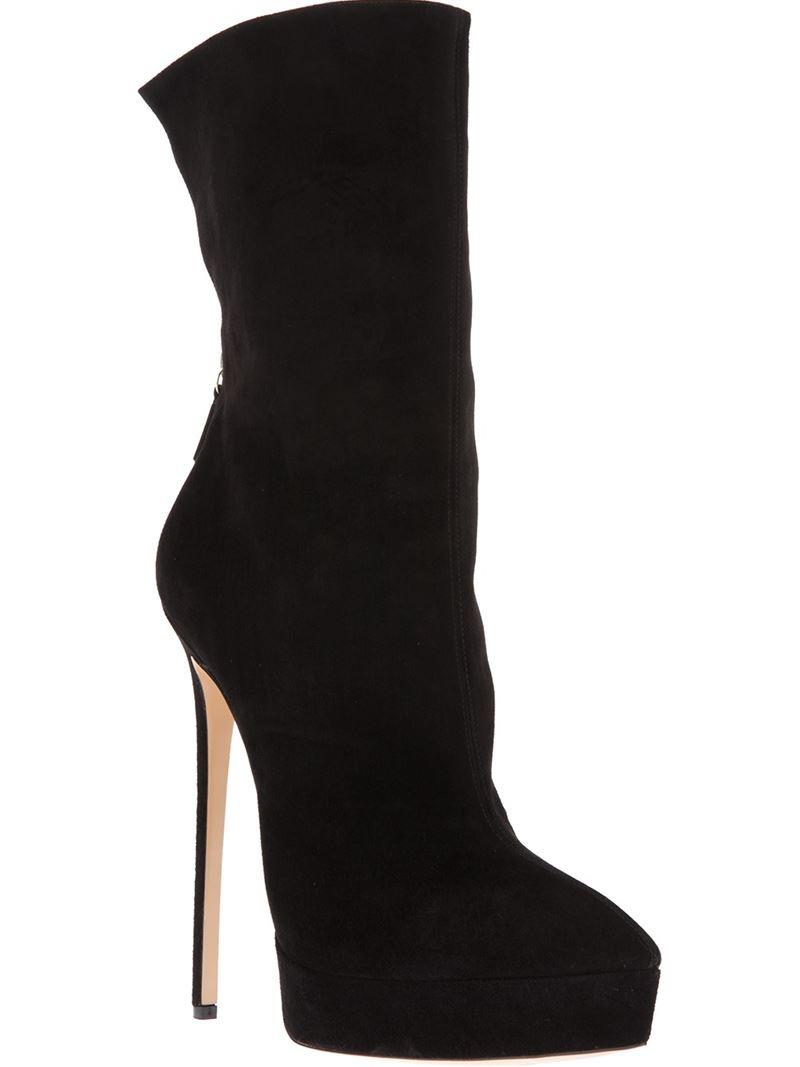 Casadei Stiletto Ankle Boot in Black   Lyst