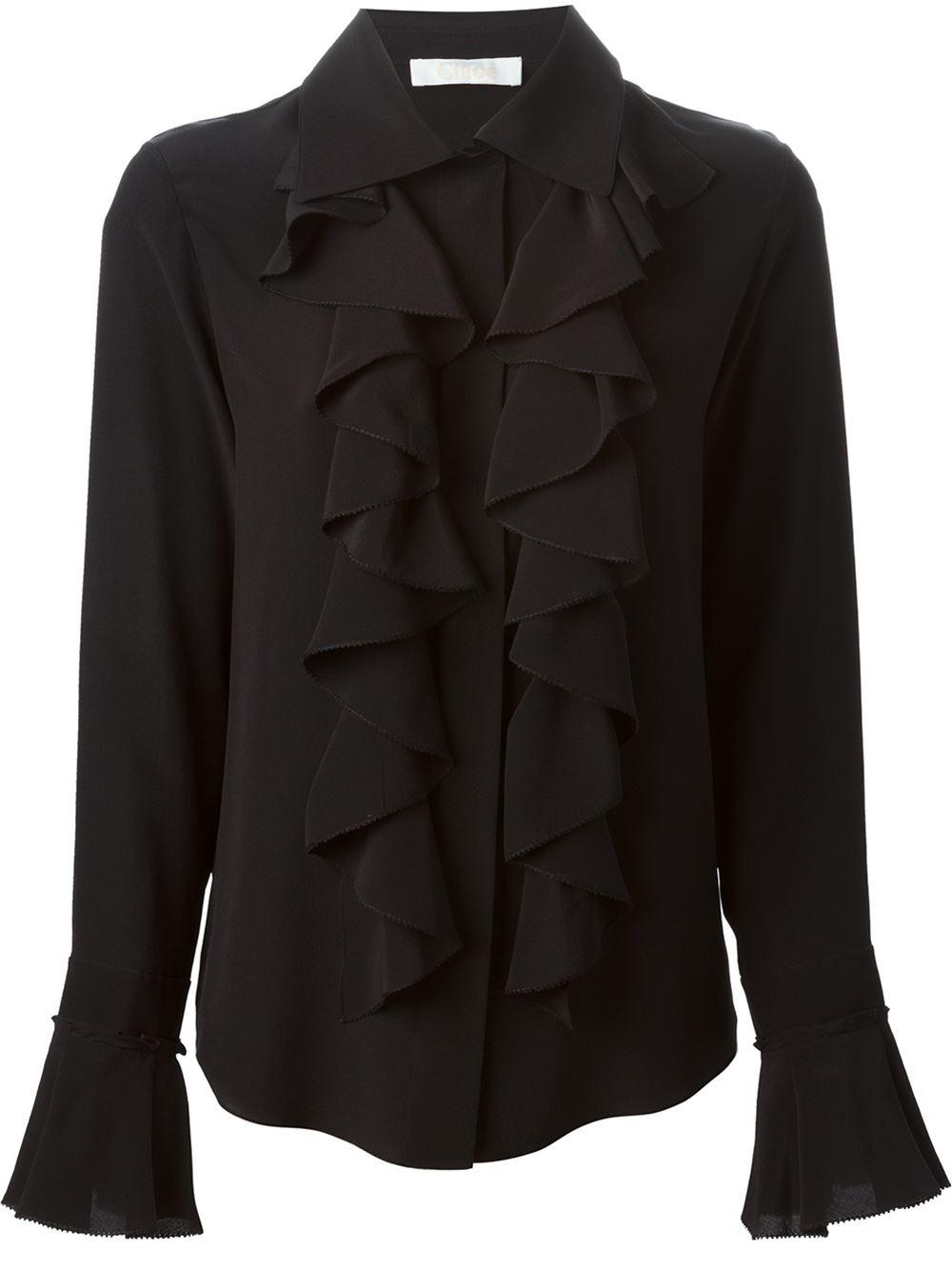 Amy Blue Ruffle Sleeve Shirt |Ruffle Shirt