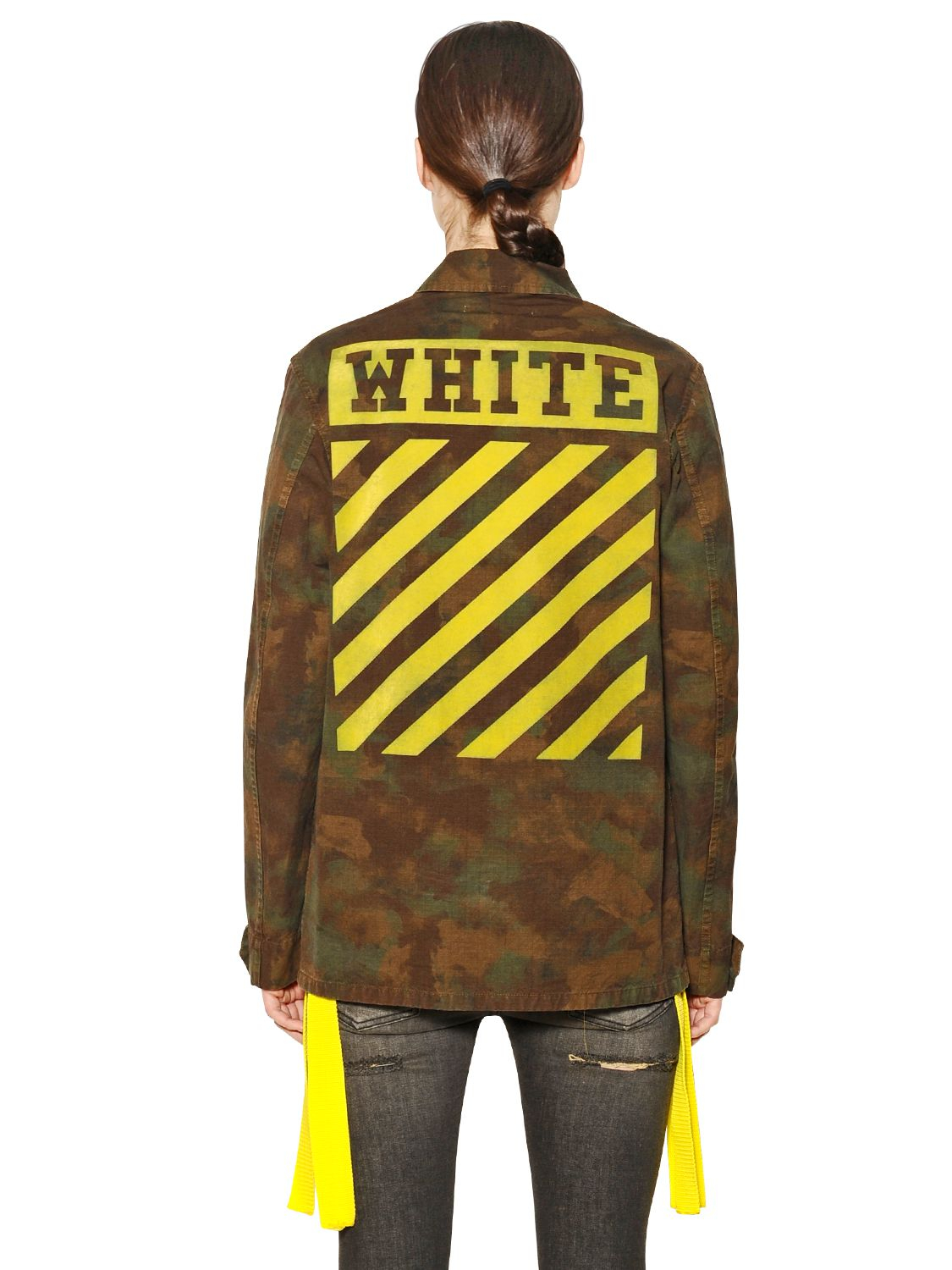 7acadafe44be6 Off-White c/o Virgil Abloh Camouflage Cotton Military Jacket in ...