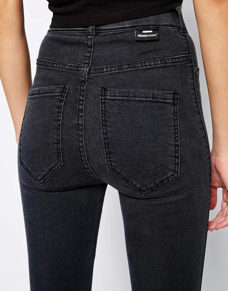 bf1512752f3 Dr. Denim Solitaire High Waist Super Skinny Jeans in Black - Lyst