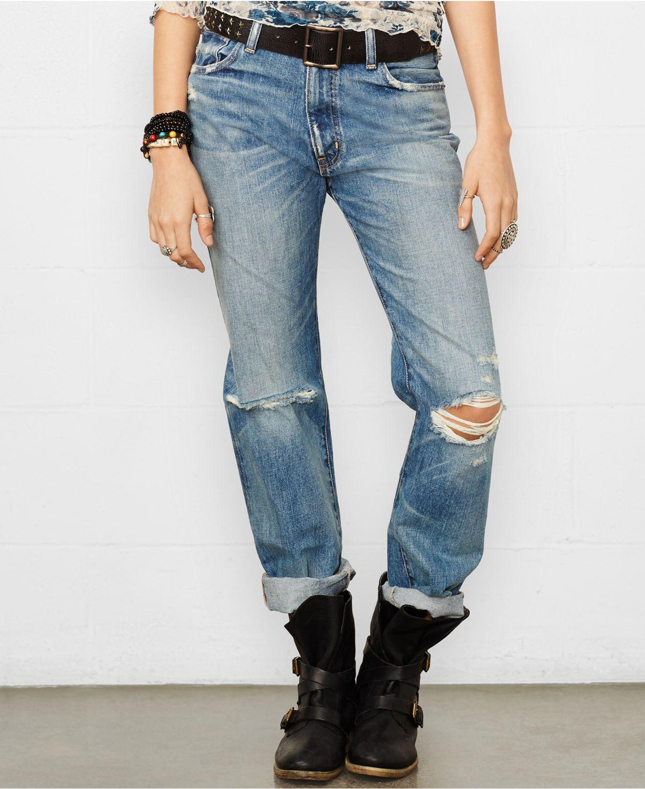 25729d1ea2158 Denim & Supply Ralph Lauren High-Rise Britton-Wash Boyfriend Jeans ...