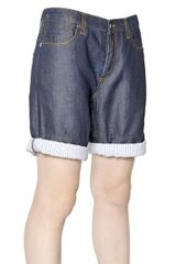 Marni Cotton and Linen Denim Shorts - Lyst