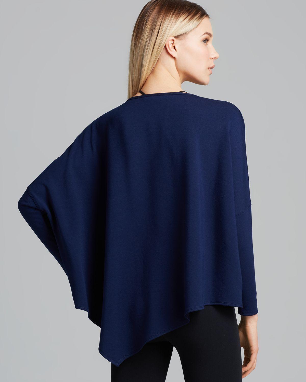 Lyst helmut lang sweatshirt villous in blue - Sweatshirt kleid lang ...