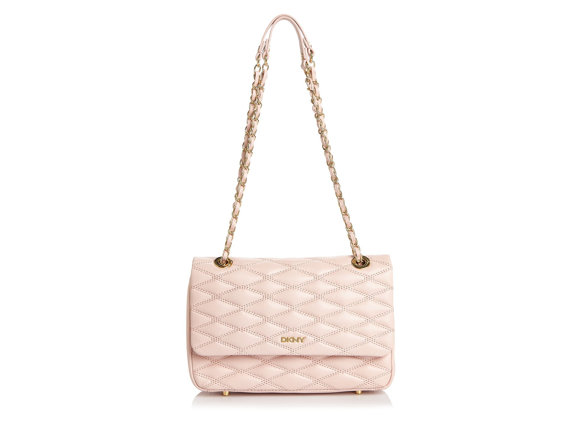 Dkny Quilted Flap Shoulder Bag in Pink | Lyst
