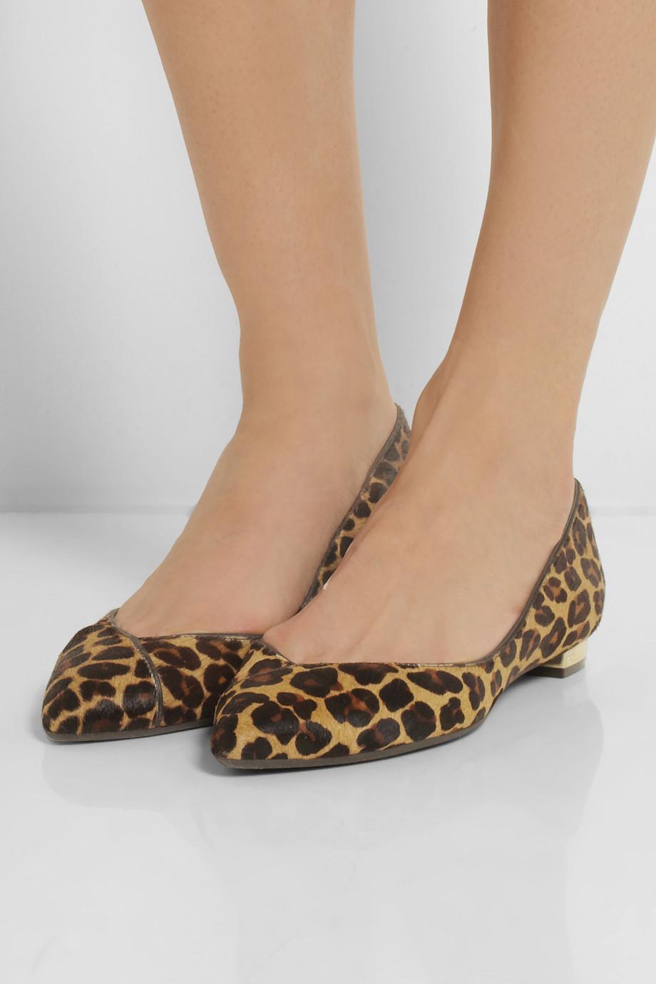 Calf Hair Flat Shoe