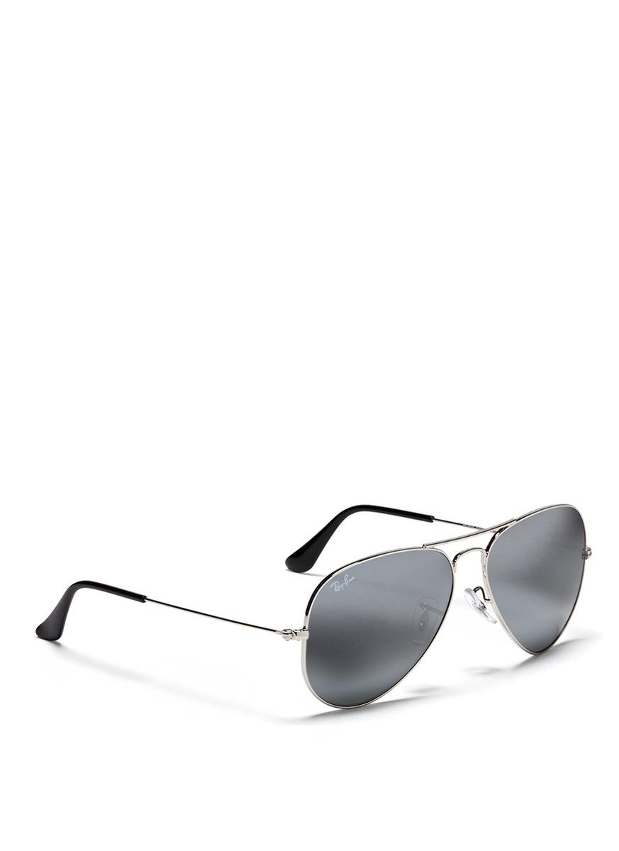 cb8df0ef937 Silver Mirrored Aviator Sunglasses Ray Ban Clubmaster Oversized ...