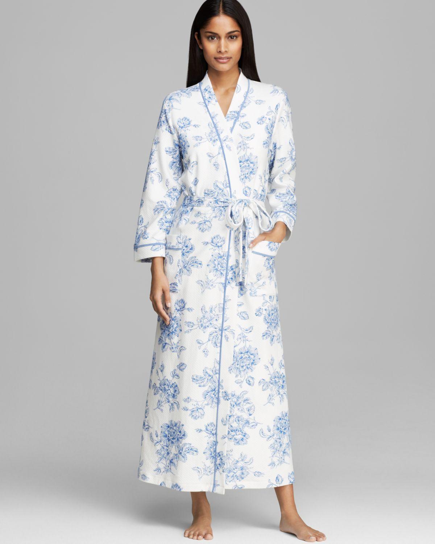 Lyst - Carole Hochman Timeless Floral Long Robe in Blue