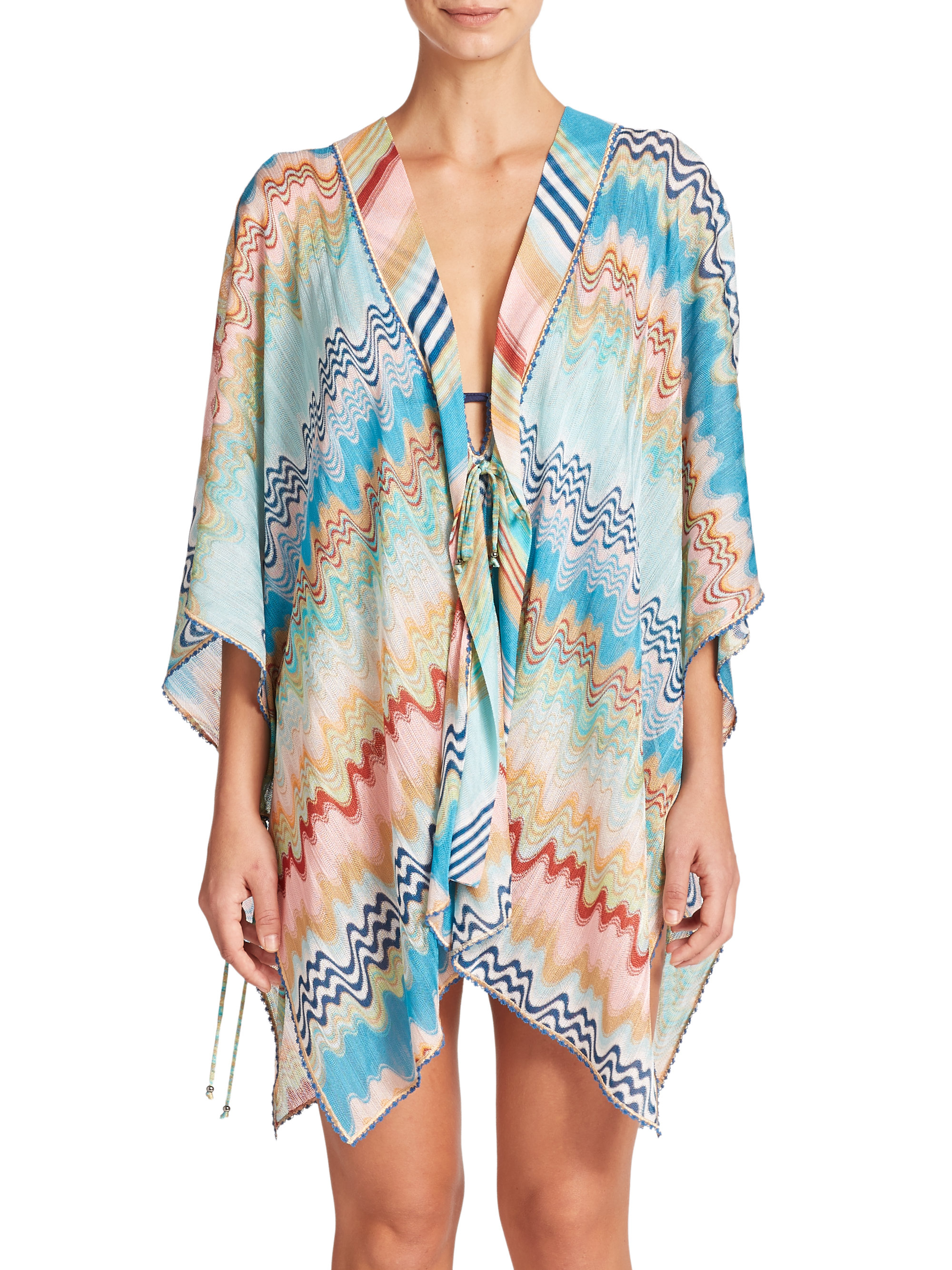 bf1e473e89 Missoni Short Wrap Swim Coverup - Lyst