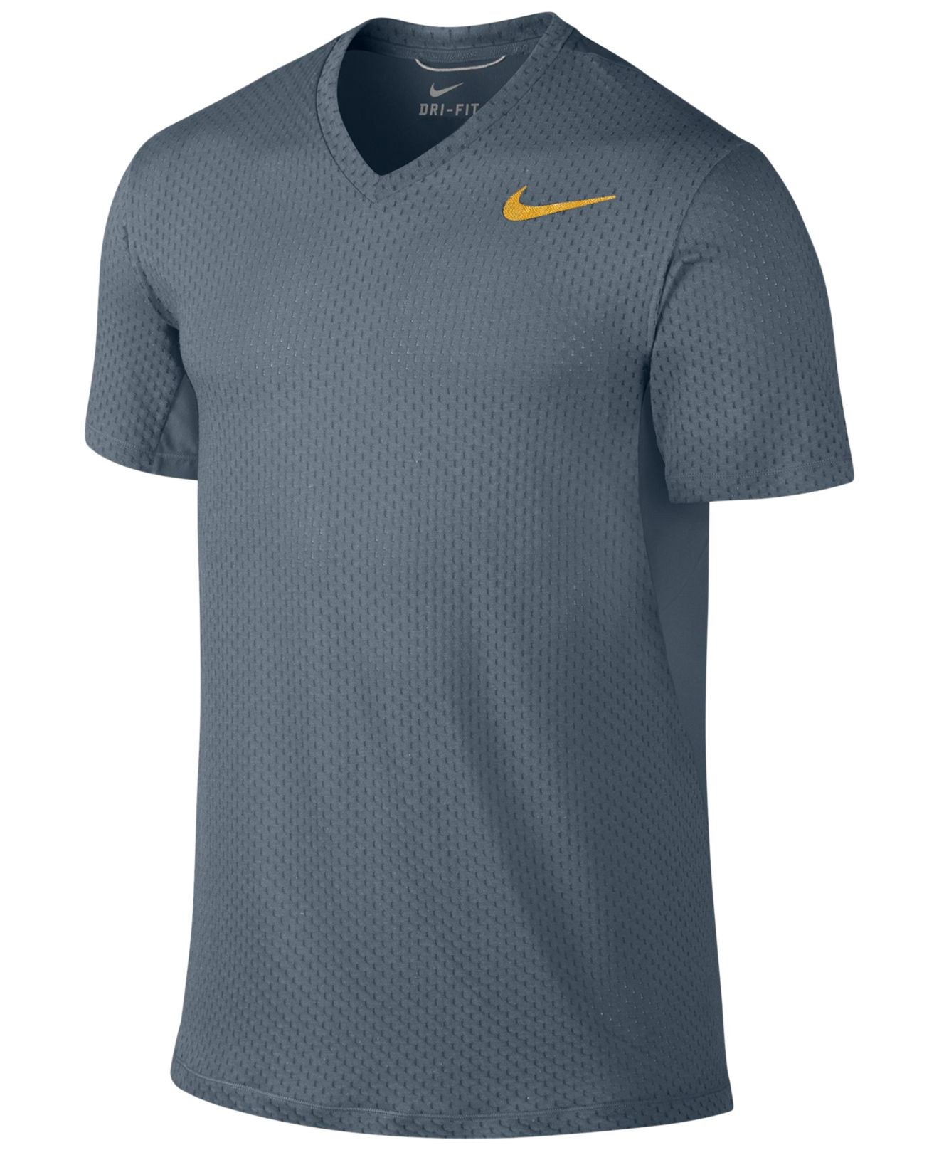 Nike Cool Dri Fit V Neck Training T Shirt In Blue For Men