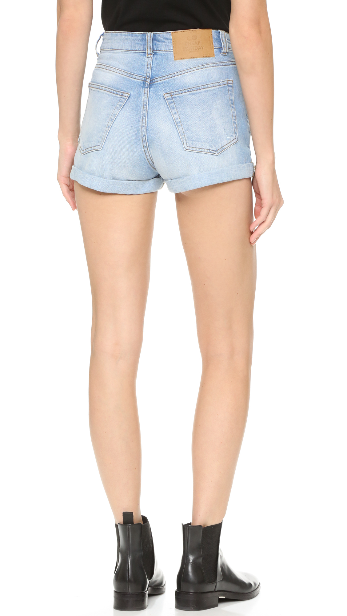 Cheap monday Donna Shorts in Blue | Lyst