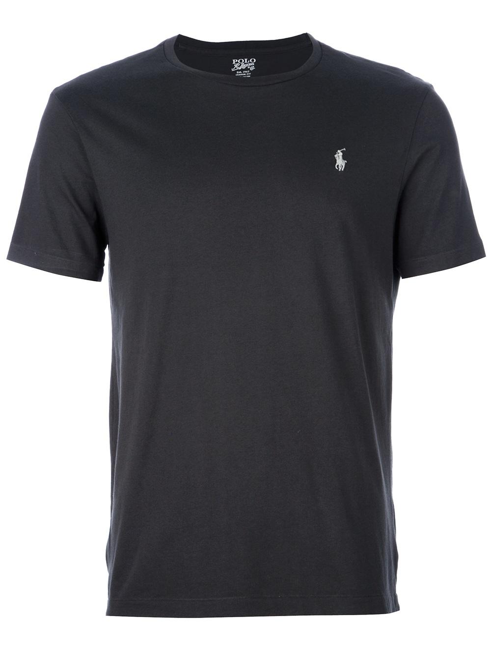 Lyst Polo Ralph Lauren Logo T Shirt In Gray For Men