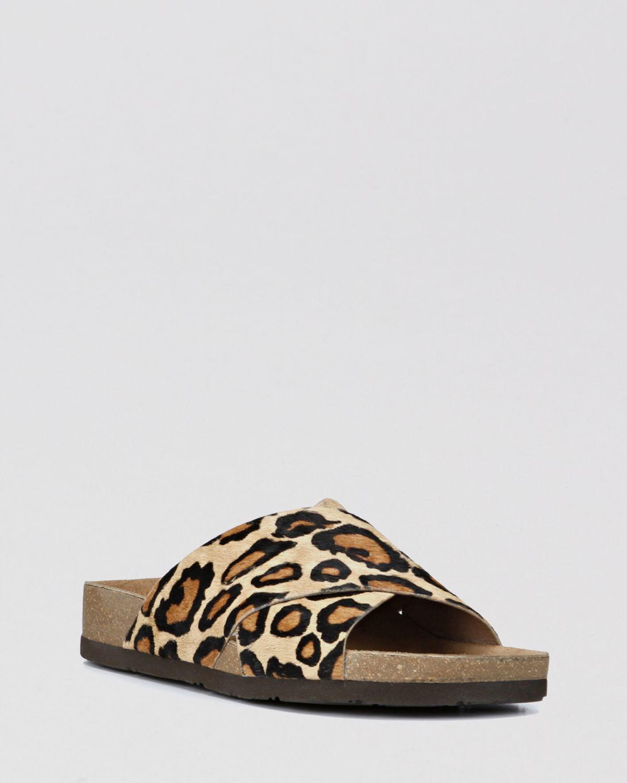 4b68379ff693 Sam Edelman Flat Sandals Adora Leopard Print - Lyst