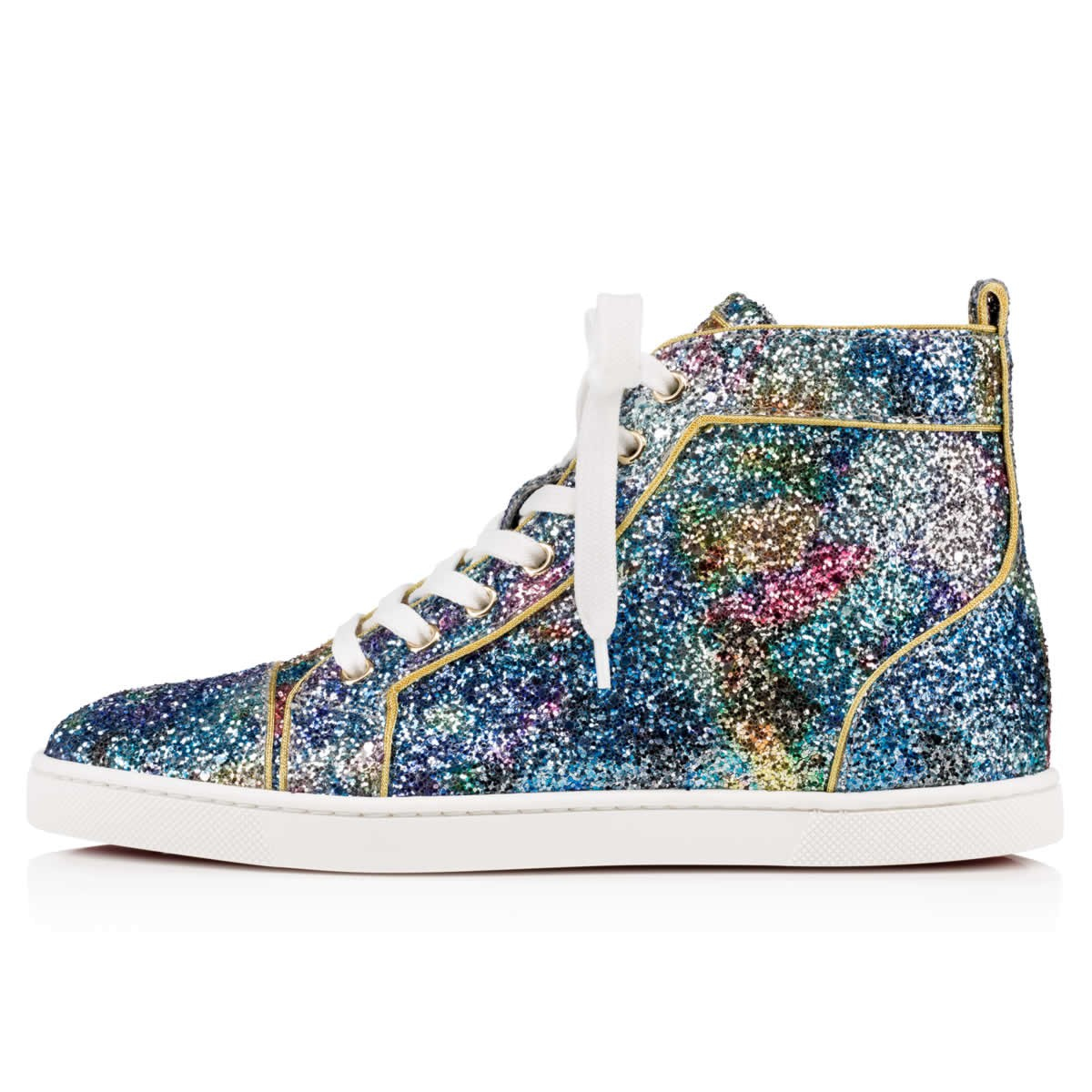 e06b2f693ab switzerland louboutin gold glitter sneakers zip d0fc1 4677b