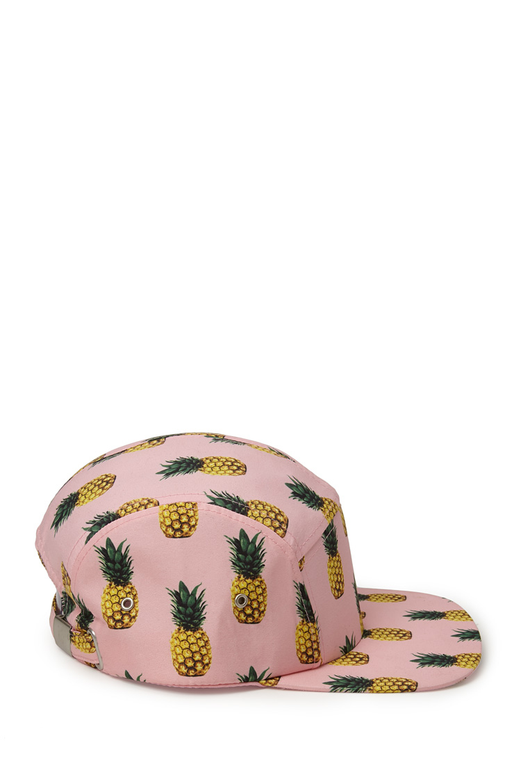 Lyst - Forever 21 Pineapple Frenzy 5panel Cap in Pink dc5795c441a