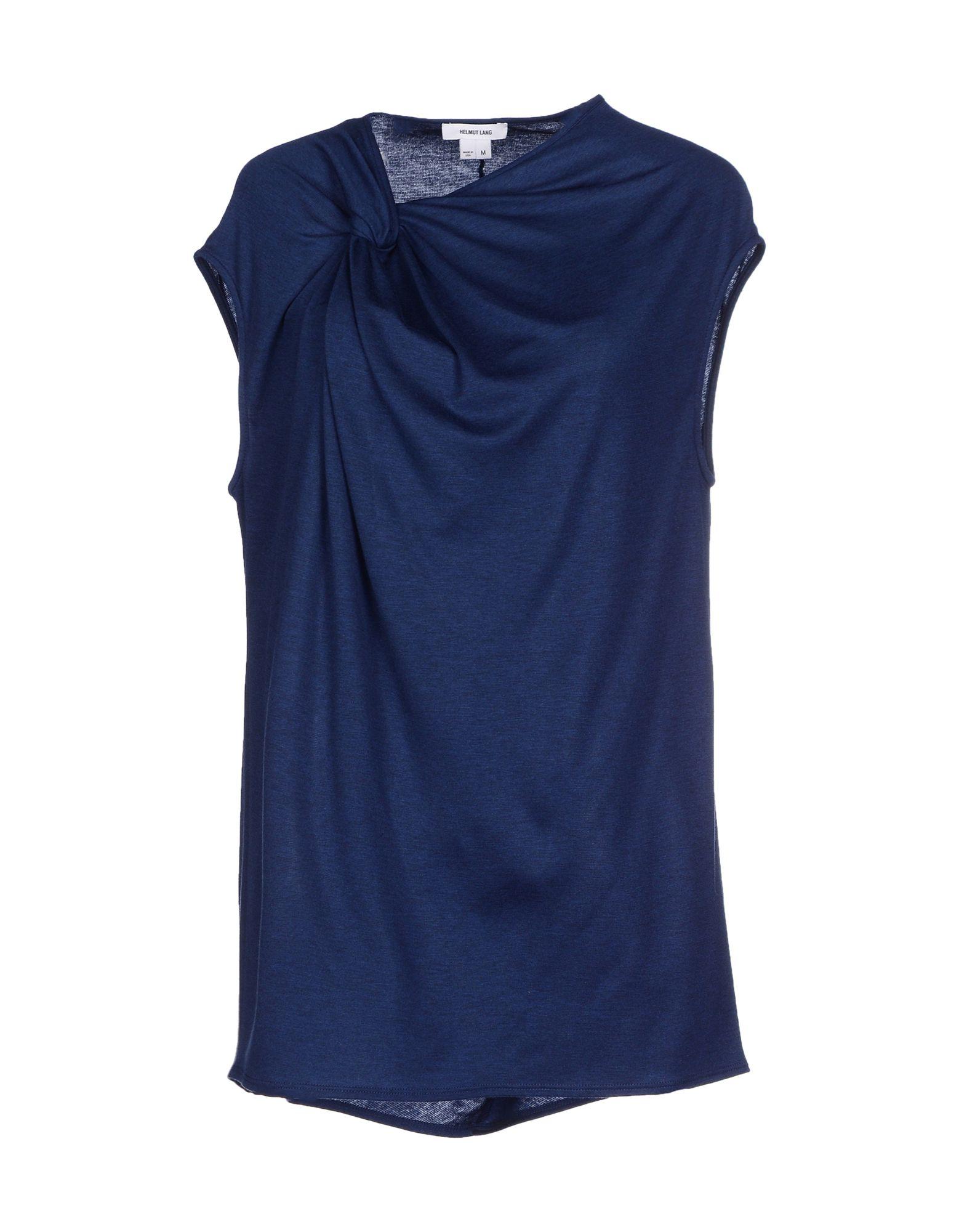 Helmut lang t shirt in blue lyst for Helmut lang t shirt