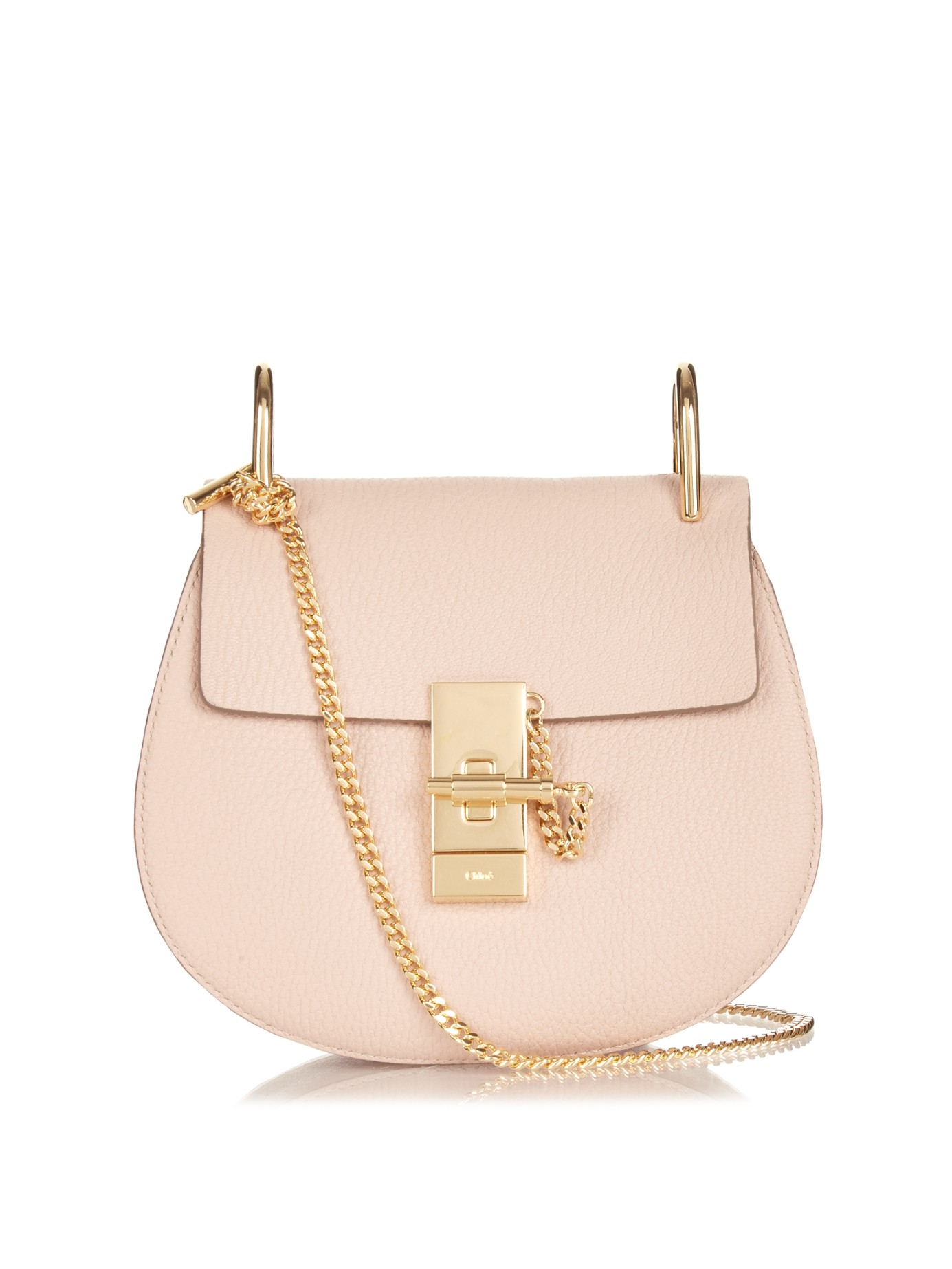 chloe replicas - Chlo�� Drew Mini Leather Cross-Body Bag in Pink (LIGHT PINK) | Lyst