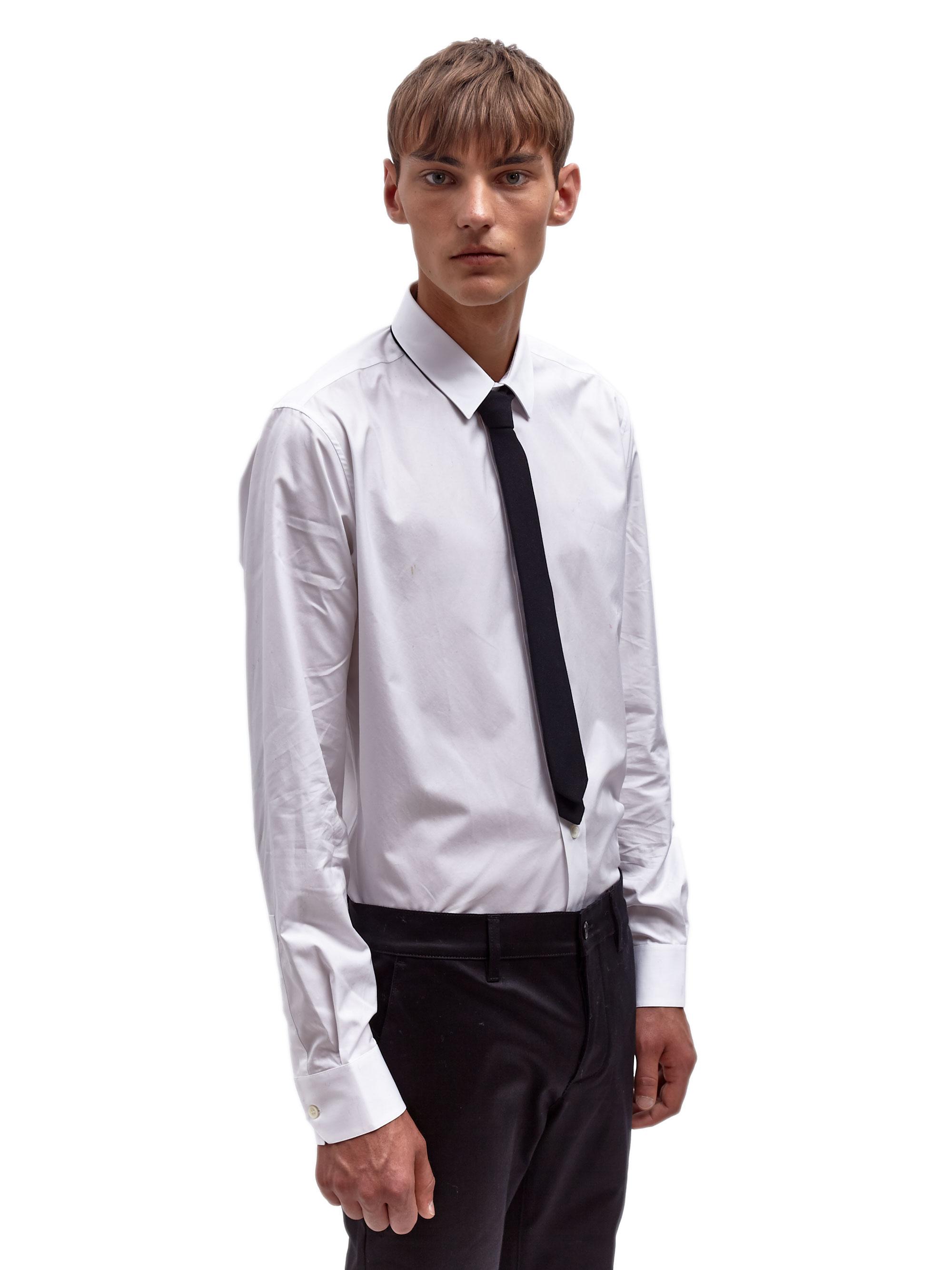 c74dbc479bb Saint Laurent Mens Wool Skinny Tie in Black for Men - Lyst