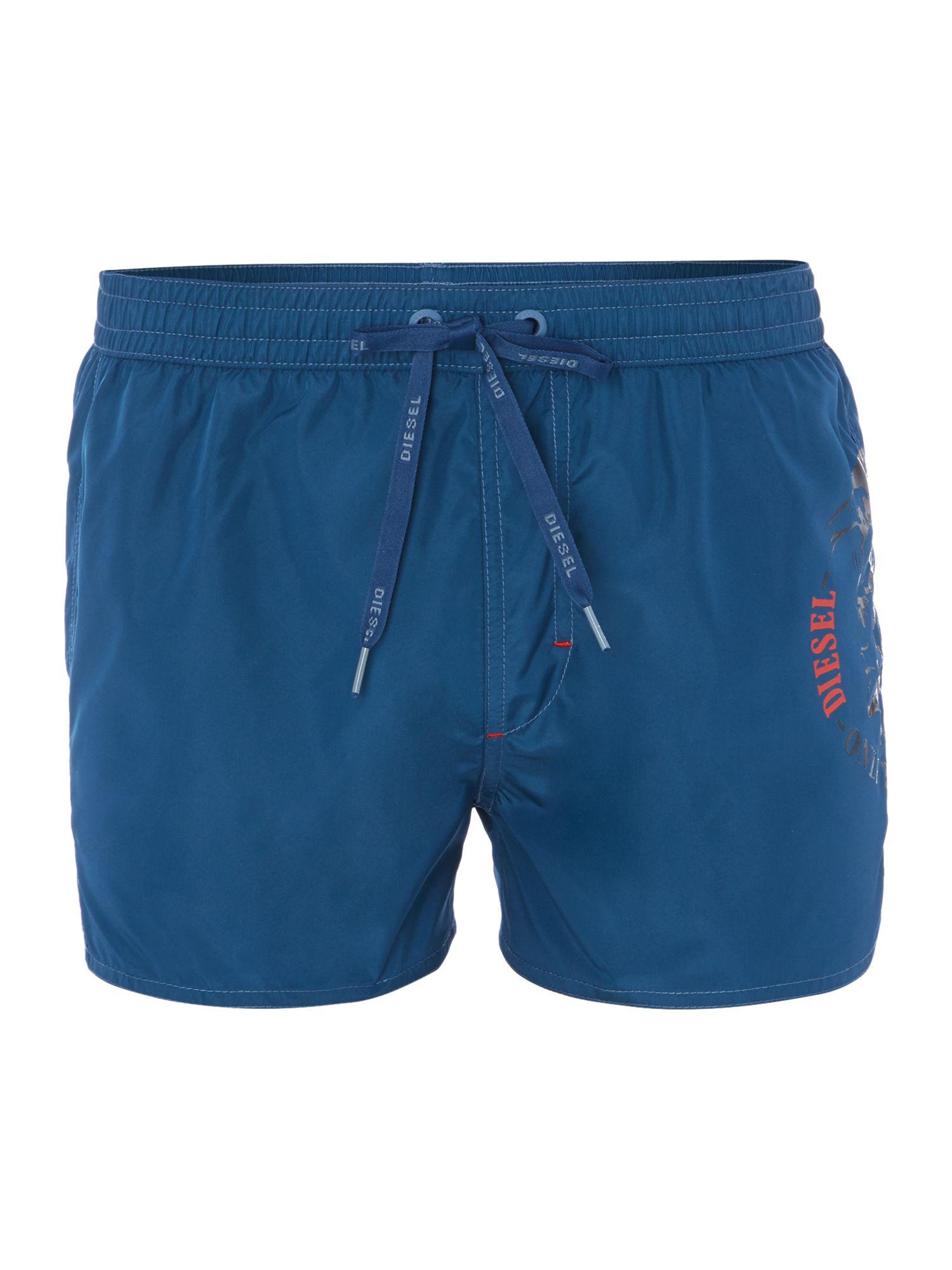 eb27d0f32000b Diesel Coralrif Short Length Swim Short in Blue for Men - Lyst